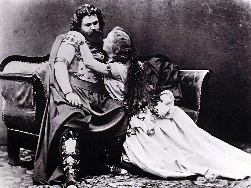 The first Tristan and Isolde, June 10, 1865: Ludwig Schnorr von Caroldsfeld and his wife, Helena Schnorr von Carolsfeld. Ludwig dropped dead five days after the performance!