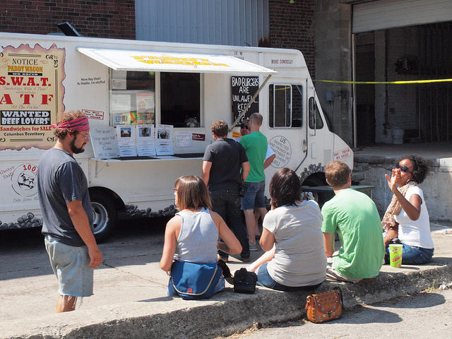The Paddy Wagon food truck in action