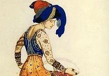 'The Blue Sultana, ' by  Léon Bakst (1866 –1924)