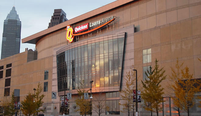 Quicken Loans Arena exterior in Cleveland
