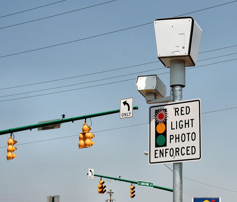 Red light camera in Springfield, Ohio.