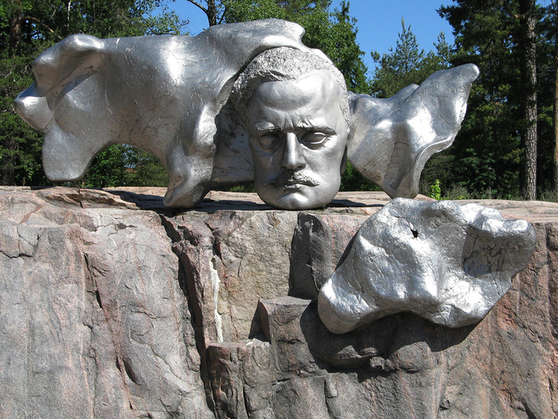 Sculpture Of composer Jean Sibelius