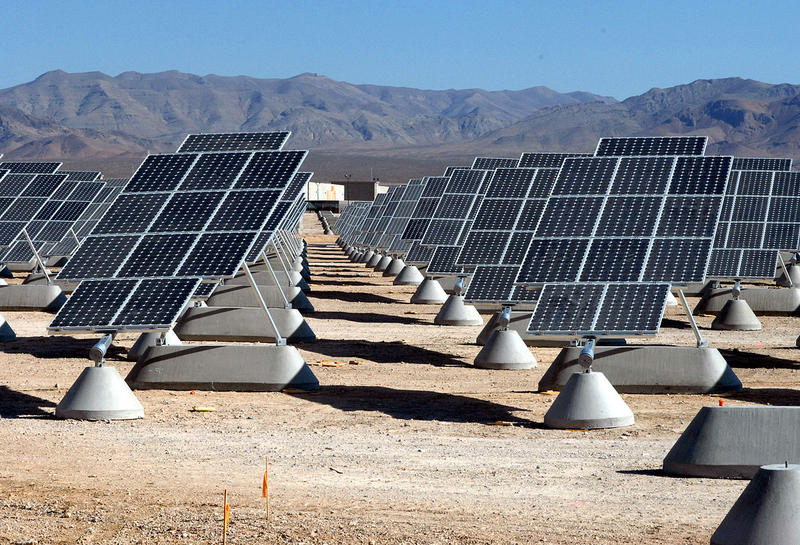 The largest photovoltaic solar power plant in the United States: Nellis Solar Power Plant