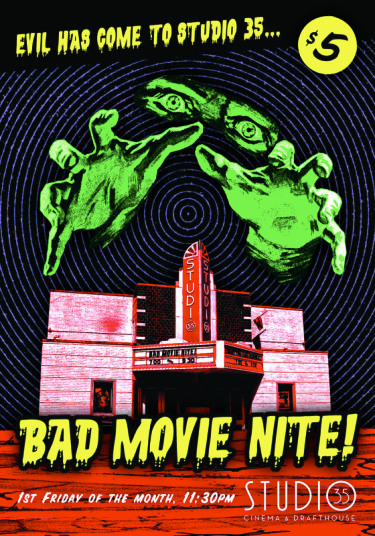 Studio 35 Bad Movie Night Poster