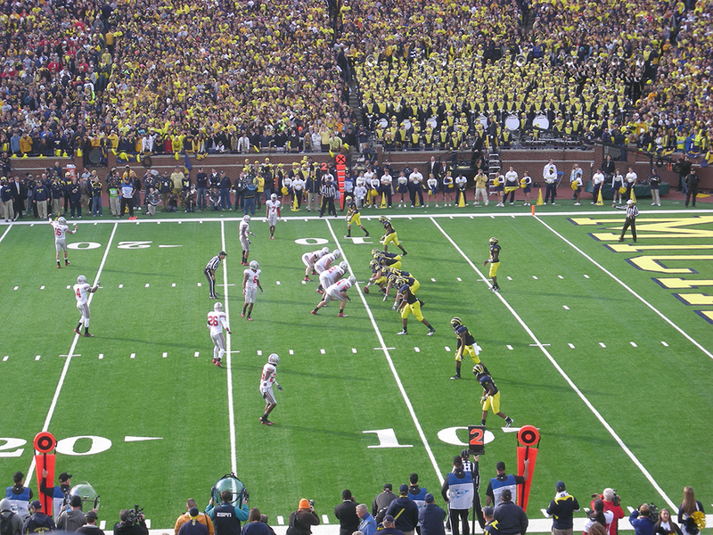 Ohio State and Michigan football at Michigan Stadium