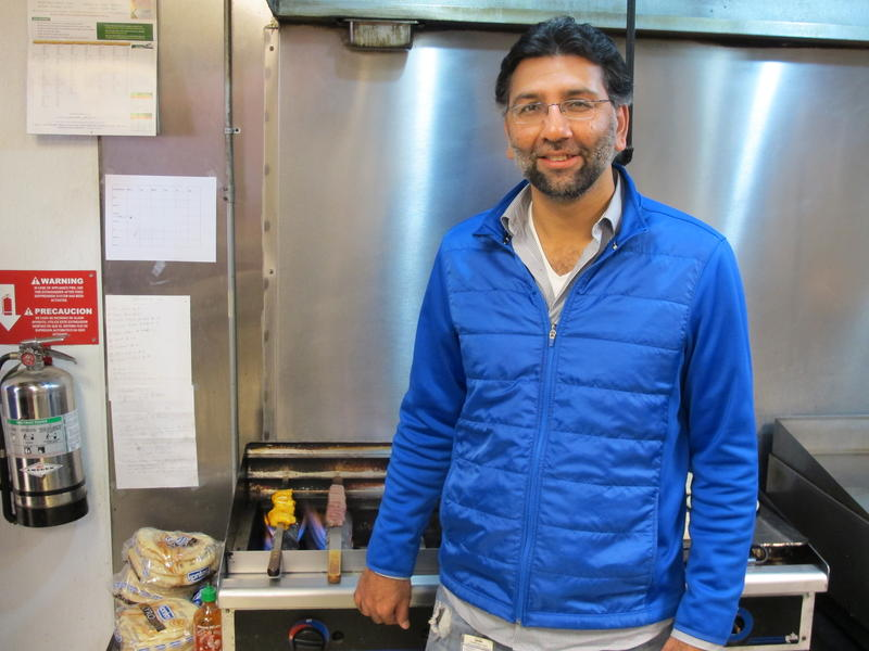 Noorgul Dada in the kitchen at Gyro and Kabob House