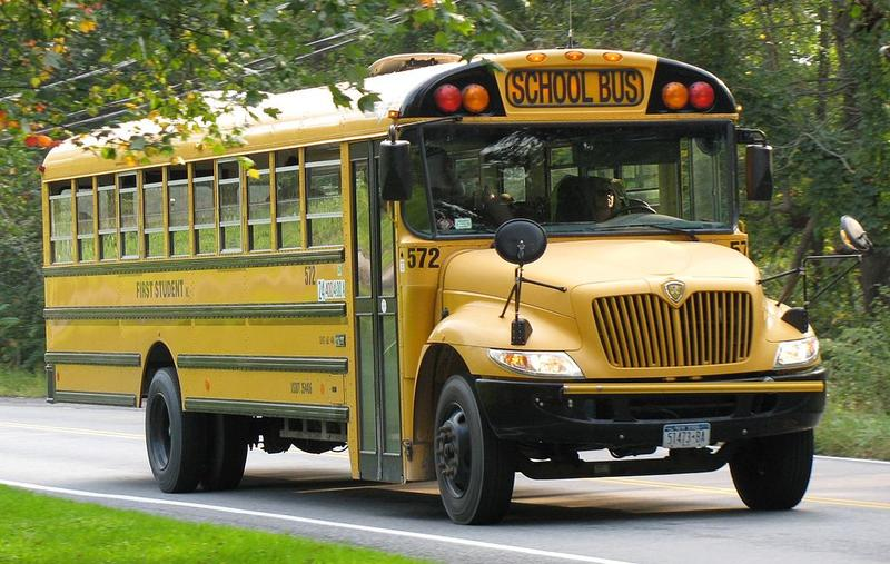 School bus in Buffalo, New York.