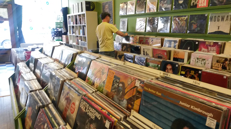 Record store racks