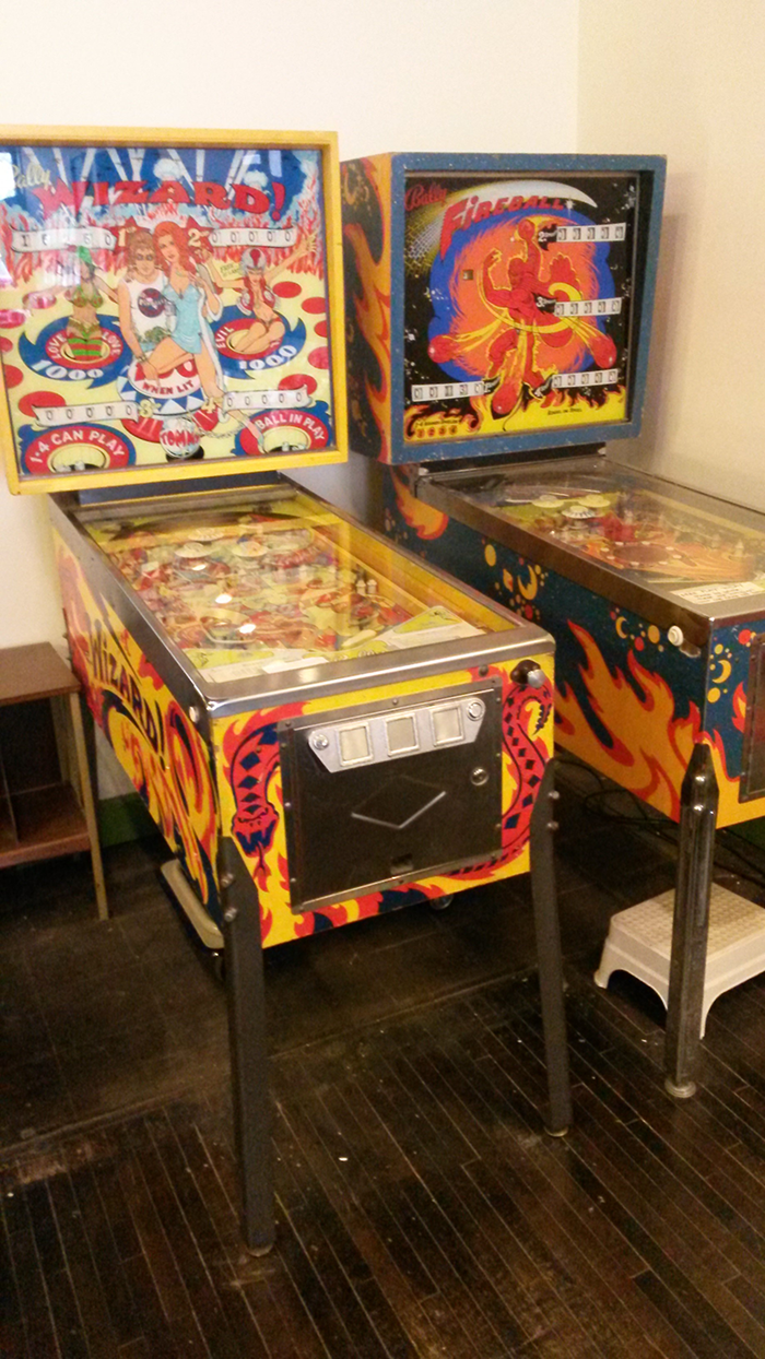 Two pinball machines