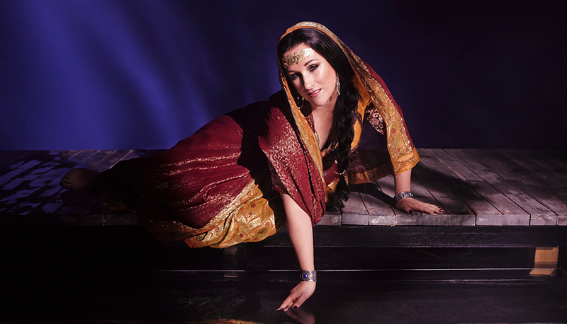 "Diana Damrau as Leila in a new production of Bizet's ""Les pêcheurs de perles."""