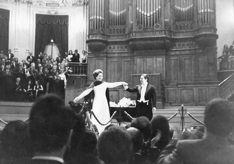 Maria Callas performs in Amsterdam in 1973.