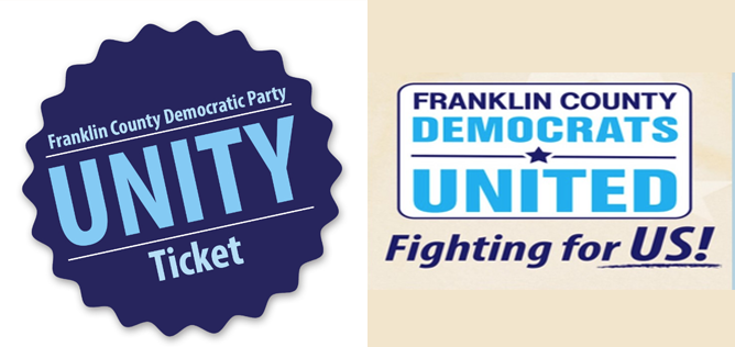 Two fractions of the Franklin County Democratic Party have emerged due to the candidate endorsement process.