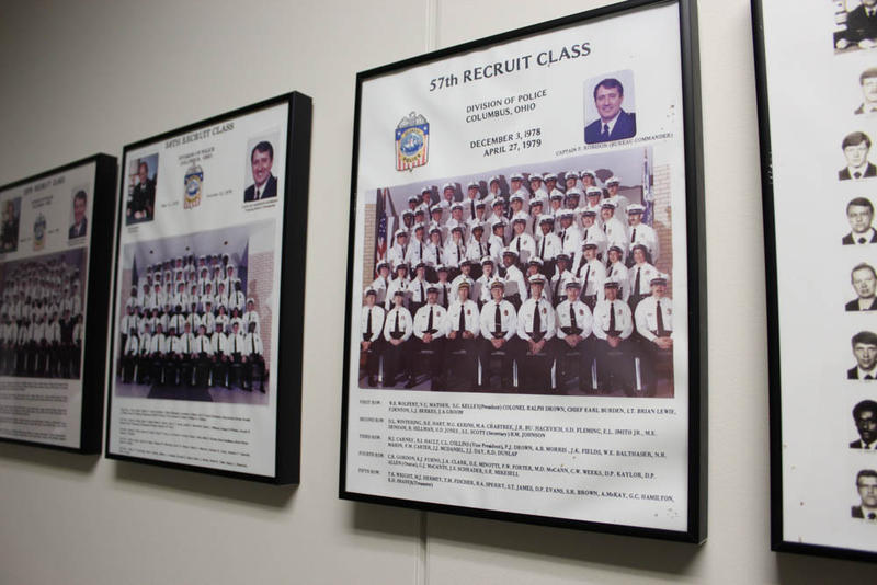 The halls of the Columbus police academy are lined with photos of each graduating class for the last one-hundered years. The number of officers from a racial or ethnic minority has stayed below 15 percent for the last 12 years.