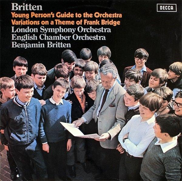 "This Monday at 7:00 PM, be sure to tune in for Benjamin Britten's ""Young Person's Guide to the Orchestra,"" whether you are young or wisened with age."