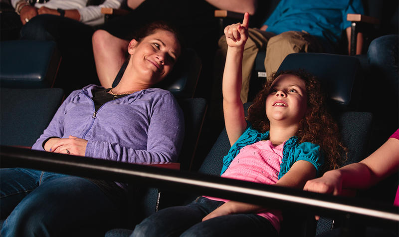 COSI Visitors take in the show at the Center's Planetarium.