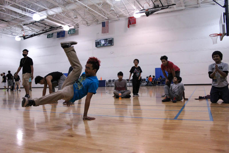 Dara Sann breakdances at Healthy Asian Youth, an all inclusive after school program on the westside.