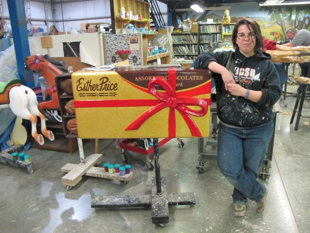 Painter Ashley Schneider with Chocolate Box ride to be featured in Dayton carousel
