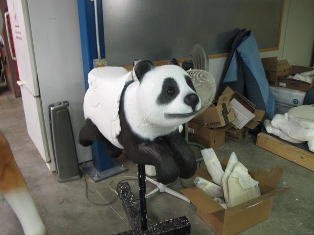 Panda carousel ride