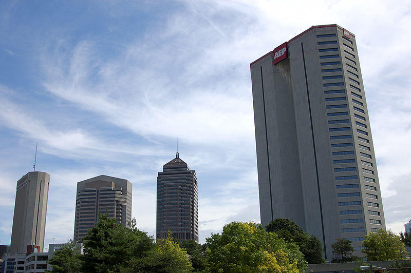 AEP building in the Columbus Skyline