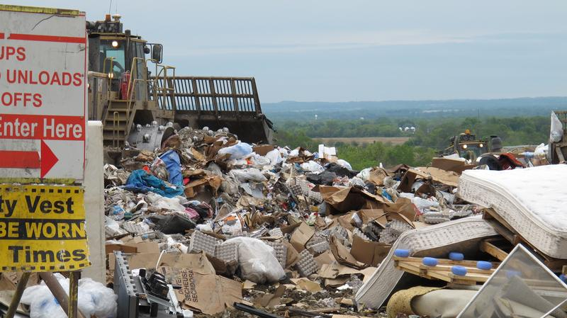 A view from the top of the SWACO landfill.
