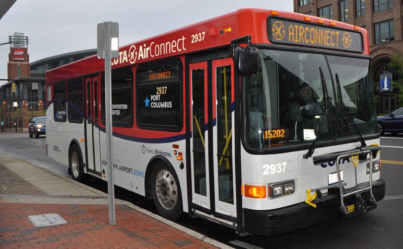COTA Air Connect bus