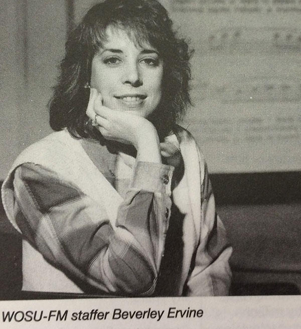Beverley Ervine from a 1986 edition of airfare, WOSU's program guide, when she became music director and station supervisor