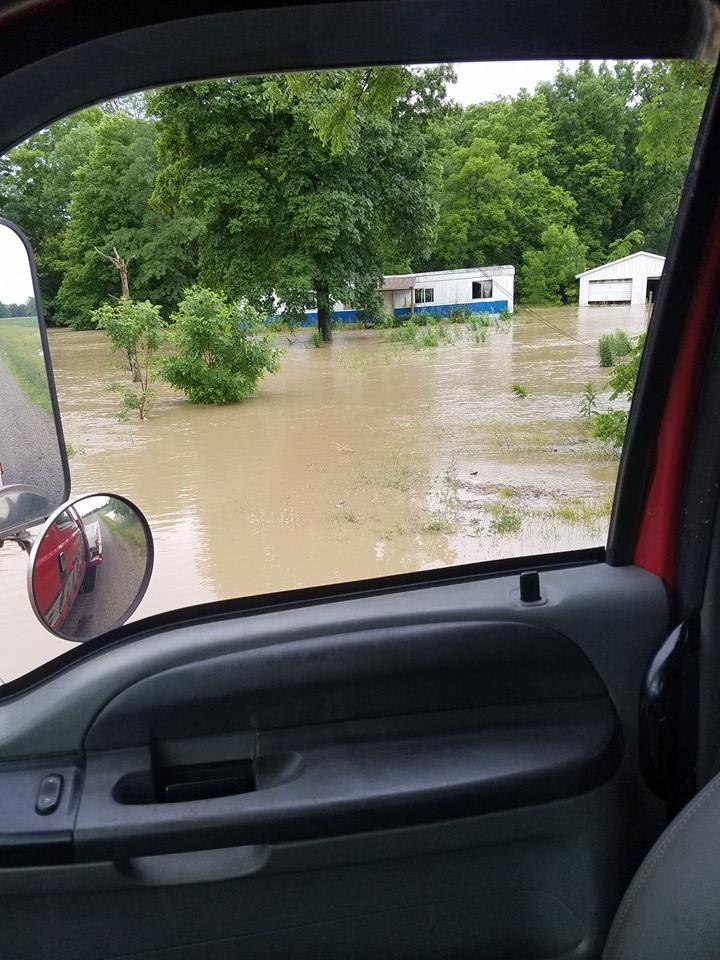 The Marion County village of Larue saw overnight flooding when the Scioto River rose out of its banks.