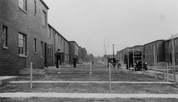 An early shot of Poindexter Village in Columbus, Ohio