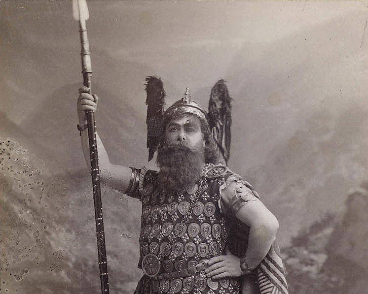 """Opera lovers, don't miss 'Das Rheingold' this Saturday's """"Opera and More"""" with Christopher Purdy. Here's Falk's photo of Emil Fischer in the role of Wotan in Wagner's opera 'Das Rheingold' at the 1889 New York Premiere."""