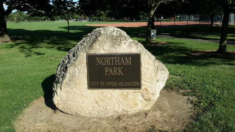 Northam Park Sign in Upper Arlington, Ohio
