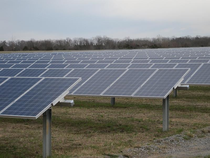 A solar farm in Shelby, Ohio.