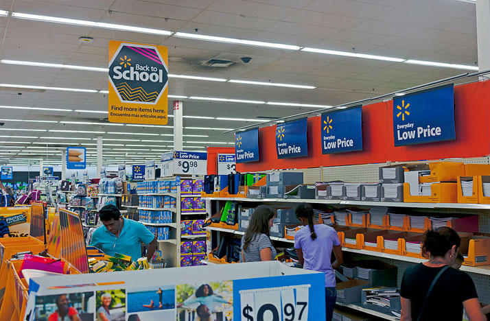 Shoppers get ready for the new school year.
