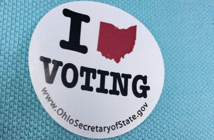 Ohio I Voted Sticker