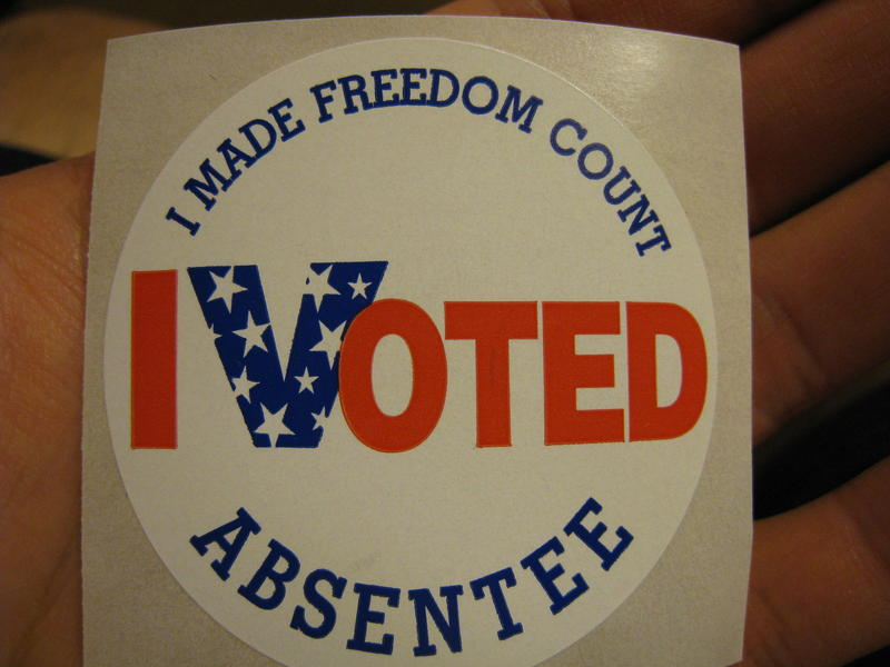Members of the military and Ohioans overseas can now cast an absentee ballot in the November presidential election.