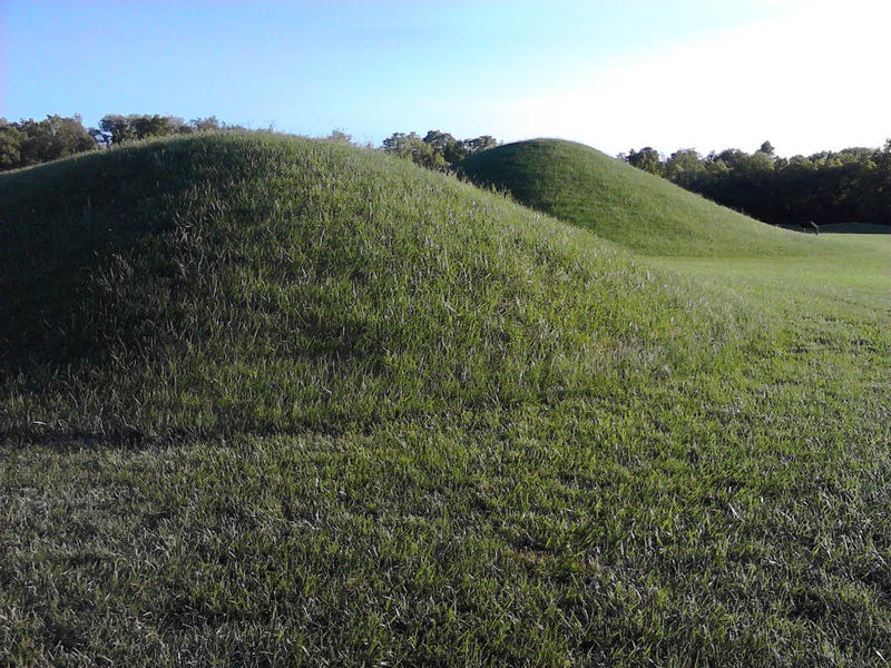 Earthworks built by the Hopewell people in Chillicothe, Ohio.