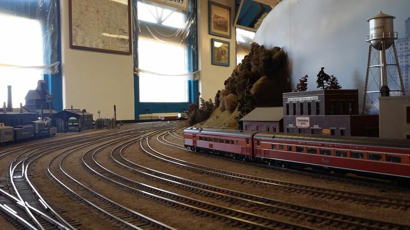 The Sandusky railyard, part of the Columbus Model Railroad Club's fictional Scioto Valley Railroad