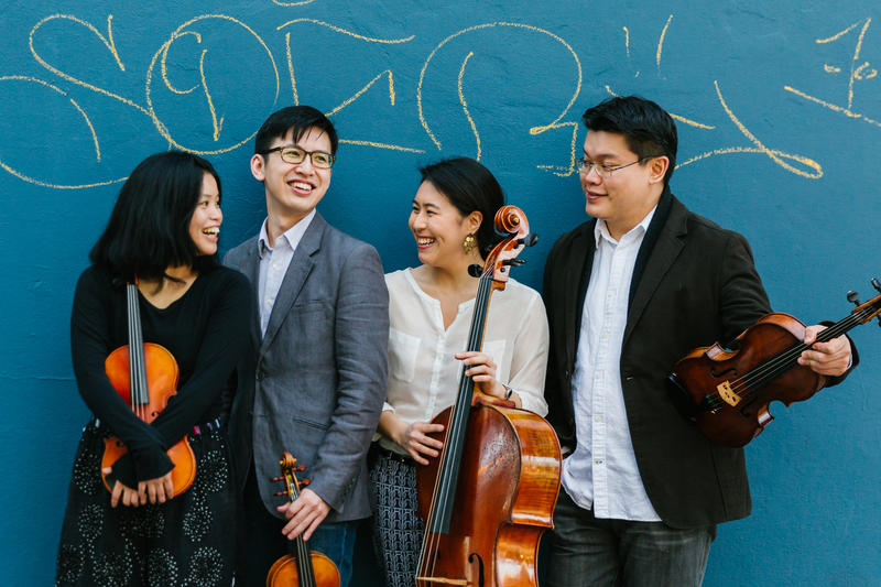 color photo of the members of the Formosa Quartet