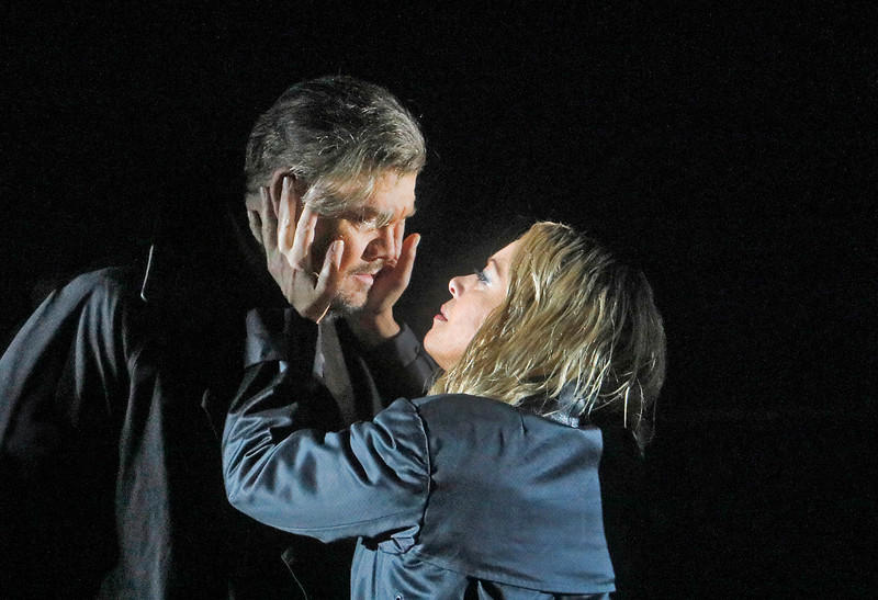 The ill-fated lovers, Tristan and Isolde, from the Metropolitan Opera's newest production of Wagner's iconic tragedy.