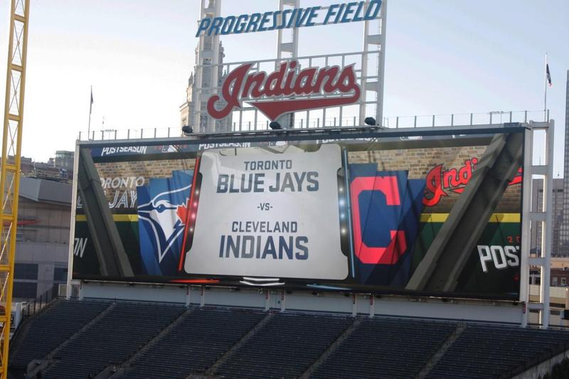 The Indians lead the Blue Jays 3-0 in the ALCS.