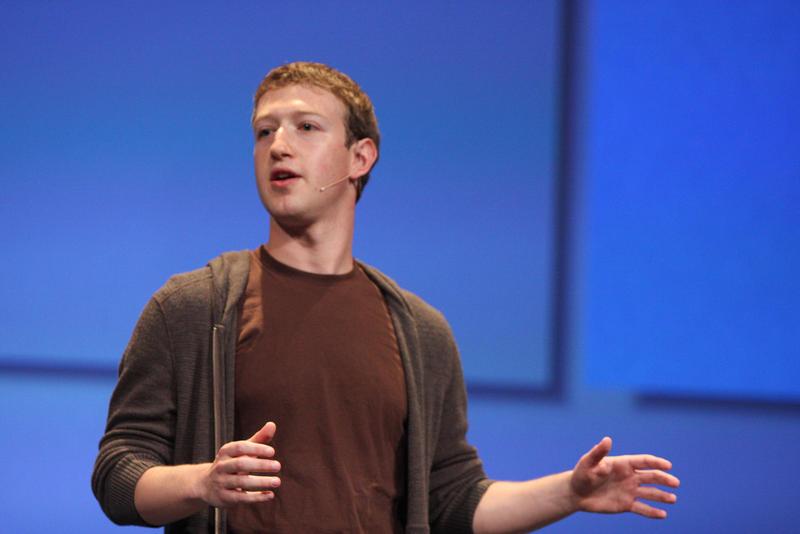 Mark Zuckerberg CEO of Facebook during F8 Keynote