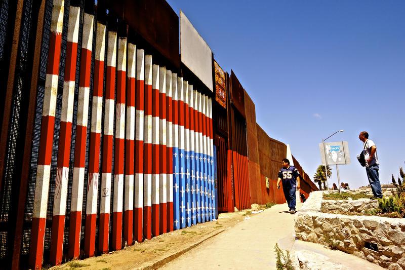 The Mexican-American border, Tijuana