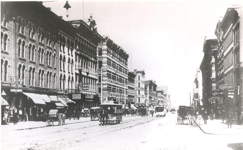 North High Street circa 1870, back when horsecars helped expand the city.
