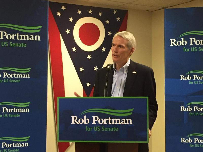 Newly re-elected Sen. Rob Portman withdrew his endorsement of Trump weeks before the election and said he would instead write in the Republican vice-presidential candidate Mike Pence.