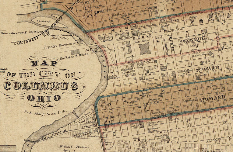 Historic map of the City of Columbus