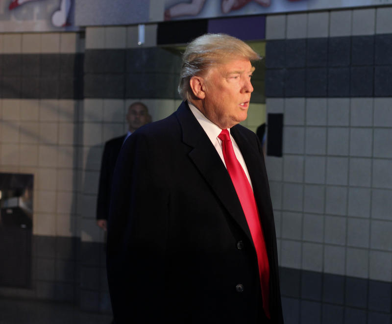 Donald Trump came to Ohio State on Thursday to speak with victims of the November 28 attack.