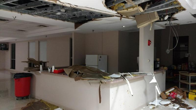Water damage has caused significant damage to the Capital Area Humane Society in Hilliard.