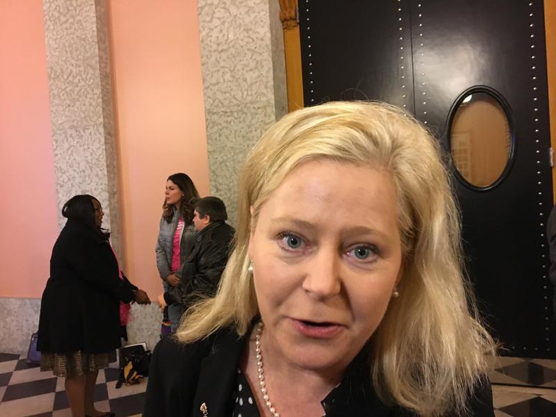Janet Folger Porter talks to Ohio Public Radio after passage of heartbeat bill in Ohio Senate .