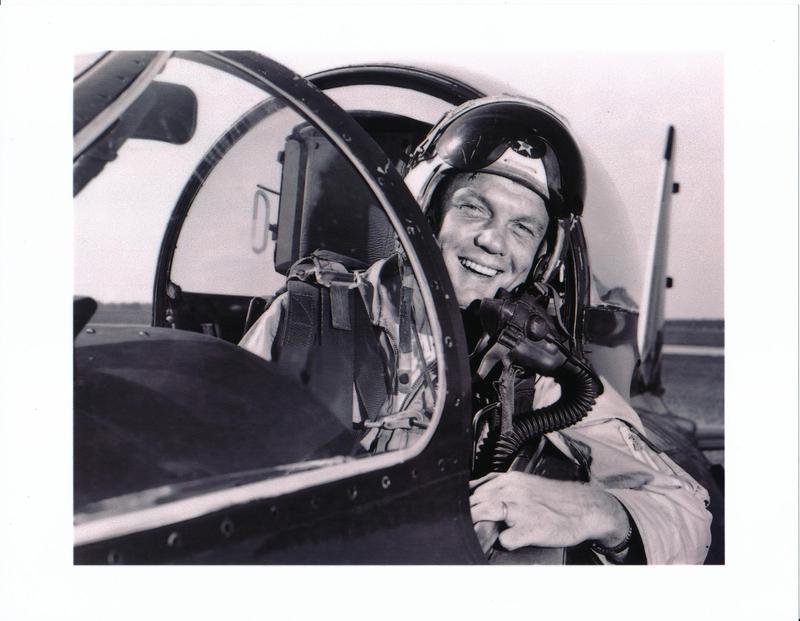 Fighter pilot John Glenn, in a photo taken before he joined the space program.