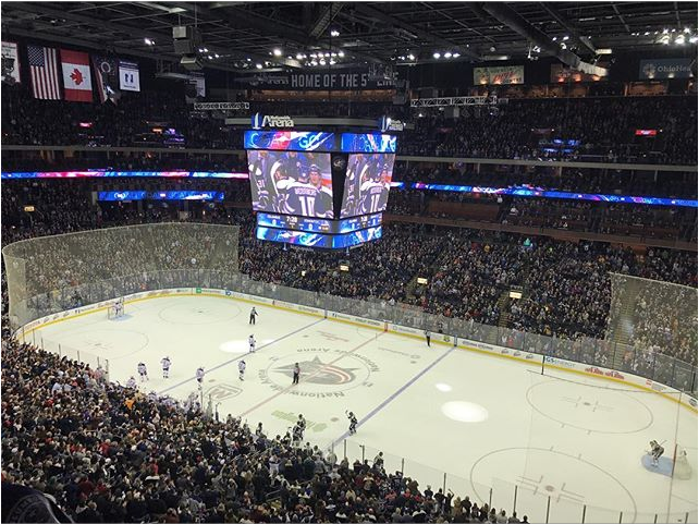 Columbus Blue Jackets playing at Nationwide Arena