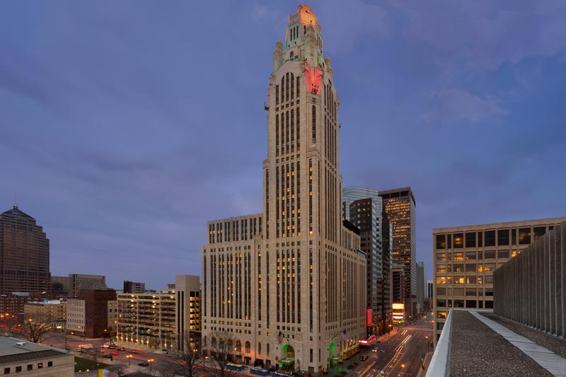 Columbus' iconic LeVeque Tower will feature a boutique hotel, apartments and office space after its renovation.